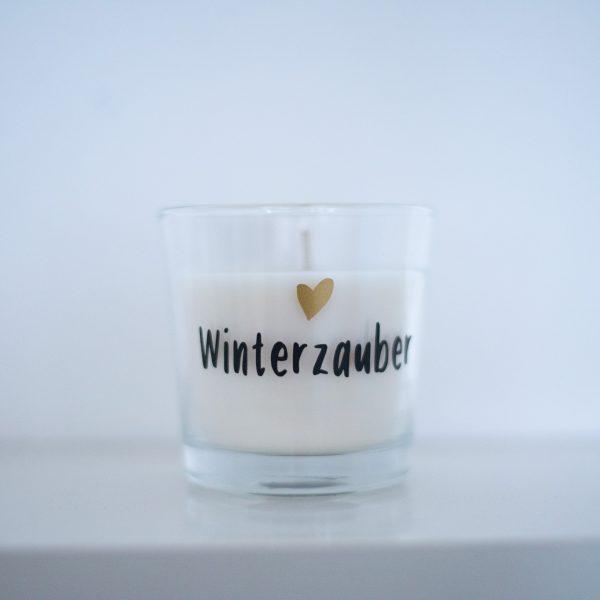 Winterzauber Kerze